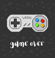 pixel game controller vector image