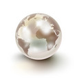 precious earth like a white pearl over white vector image vector image