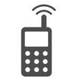radio transmitter signal flat icon vector image