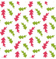 red and green trees leaves summer seamless pattern vector image vector image