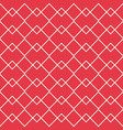 red zigzag line with overlap line seamless vector image