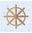 Rudder nautical marine icon graphic vector image vector image