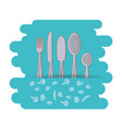 set cutlery tools icon vector image