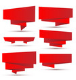 set of bright red ribbons vector image vector image