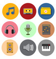simple musical symbol icons graphic set vector image vector image