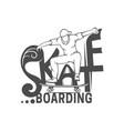 skateboarding logotype vector image vector image