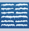 snow caps ice icicles vector image vector image