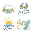 summer set of logo design for banner poster vector image vector image