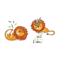 Sunny lion set King of the jungle Animal vector image vector image
