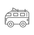 surf van car outline style vector image vector image