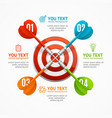 target with arrow menu infographic option banner vector image