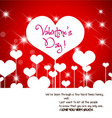 valentine greeting hearts abstract background vector image