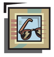 vector glasses graphic vector image vector image