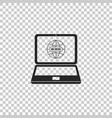 Website on laptop screen icon isolated
