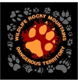Wolf footprint emblem for t-shirt vector image vector image