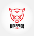 wolf pack gym vector image