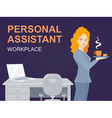woman portrait personal assistant with co vector image vector image