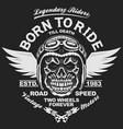 motorcycle t-shirt graphics vector image