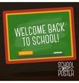 Cute school college university poster - school vector image