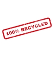 100 Percent Recycled Text Rubber Stamp vector image