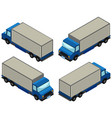 3d design for lorry trucks vector image