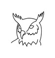animal eagle owl icon design clip art line icon vector image vector image
