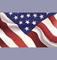 background american flag in folds star-spangled vector image vector image