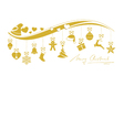 Beige golden wavy border with 12 hanging vector image vector image