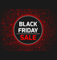 black friday red banner vector image vector image