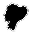 black silhouette of the country ecuador with the vector image