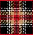 black tartan plaid seamless pattern vector image vector image