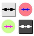 bow tie flat icon vector image vector image