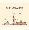 buenos aires skyline argentina linear city vector image vector image