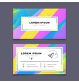 Business card design template Creative geometric vector image