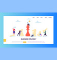 business strategy plan teamwork landing page vector image vector image