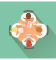 Business teamwork concept top view group people vector image vector image