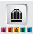 Cage flat icon vector image