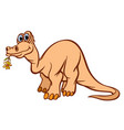 cheerful kind dinosaur worth it in the teeth vector image