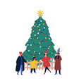 christmas holiday outdoor celebration flat vector image vector image