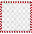 christmas new year square double candy cane frame vector image