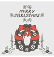 Christmas wreath doodles vector image vector image