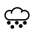 cloud with snowflakes line icon vector image vector image