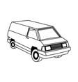 commercial vehicle - delivery van cargo transport vector image vector image