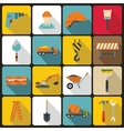 Construction icons set in flat style vector image vector image