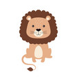 cute card of cartoon lion isolated on white vector image vector image