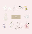 cute spring clip art little elements with hand vector image