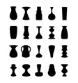 Different slyle of vases vector image vector image