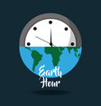earth hour globe save energy world card vector image vector image