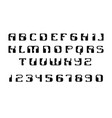 english font upper case letters logo - human vector image vector image