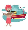 fisherman preview vector image vector image